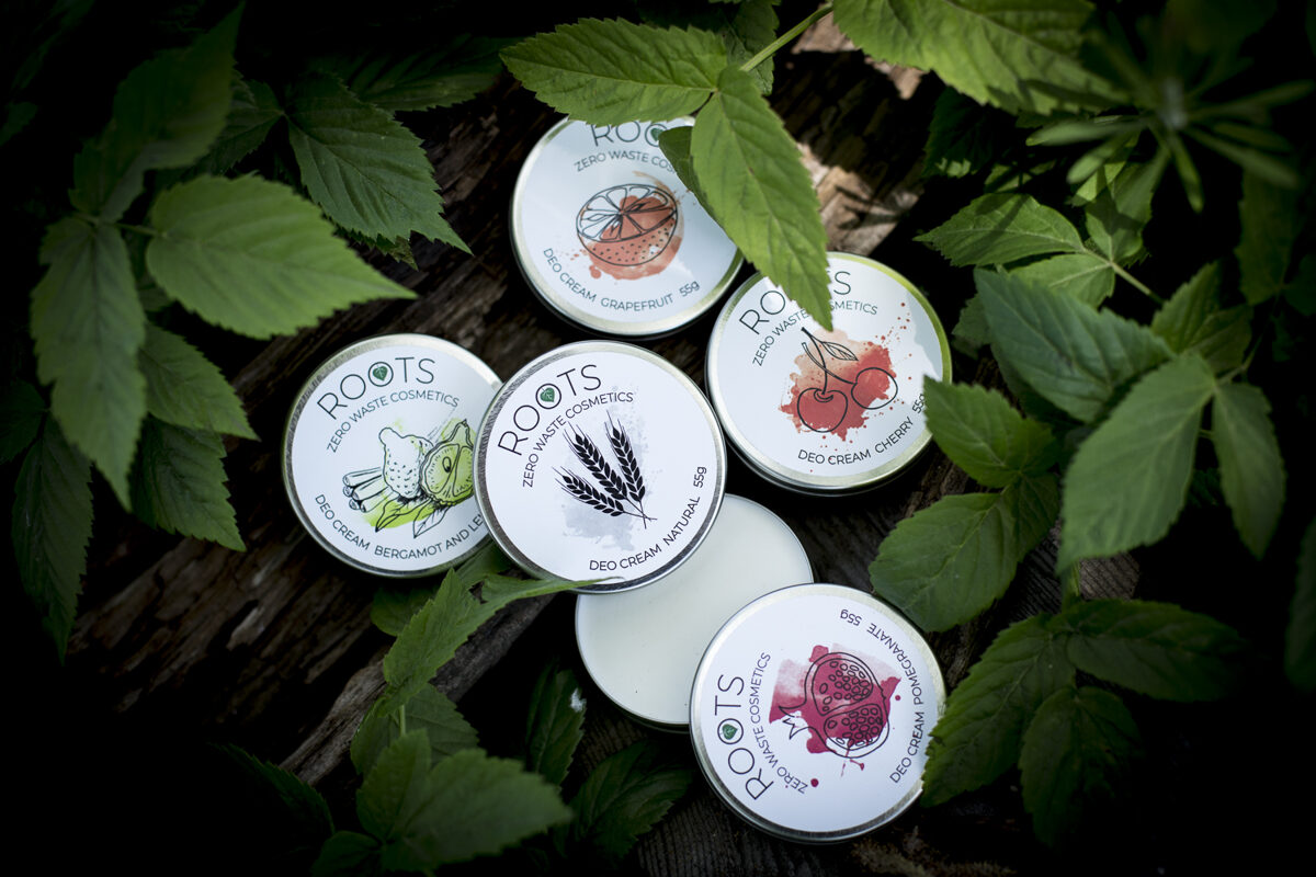 ROOTS Zero Waste Cosmetics dezodorants Rāzots Latvijā