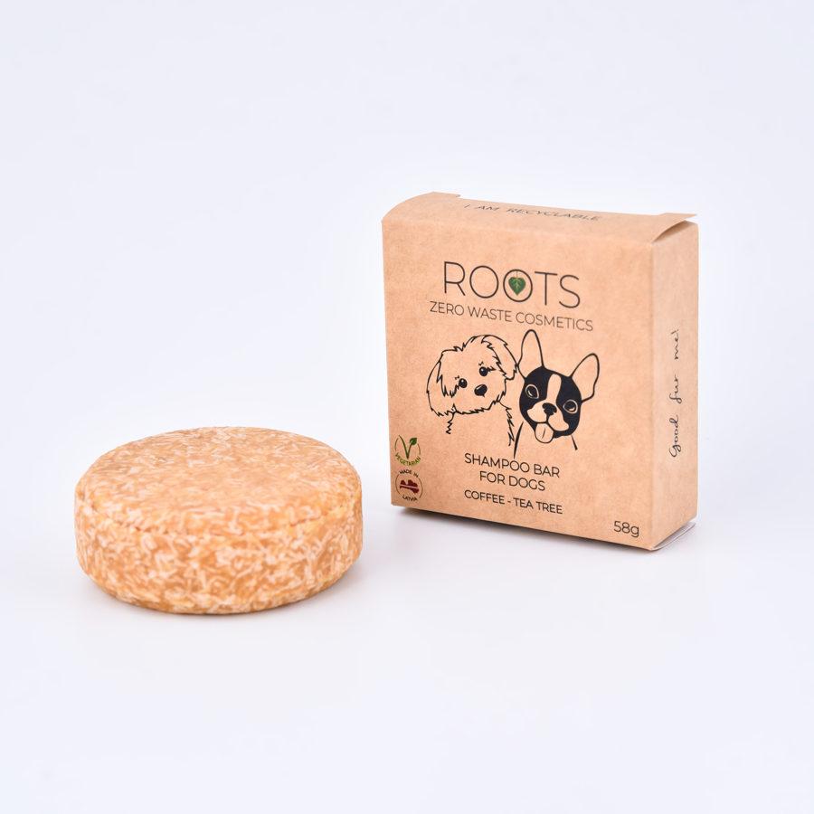 Šampūnziepes Suņiem - Kafija & tējaskoks. Roots zero waste cosmetics